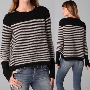 Free People Majorette Striped Sweater